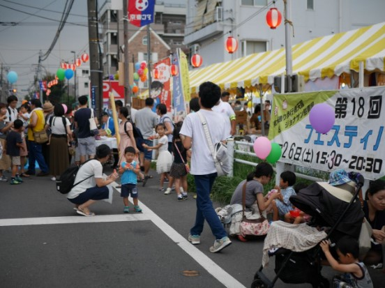東小金井北口商店会主催の夏祭りに焼きそば屋台で参加