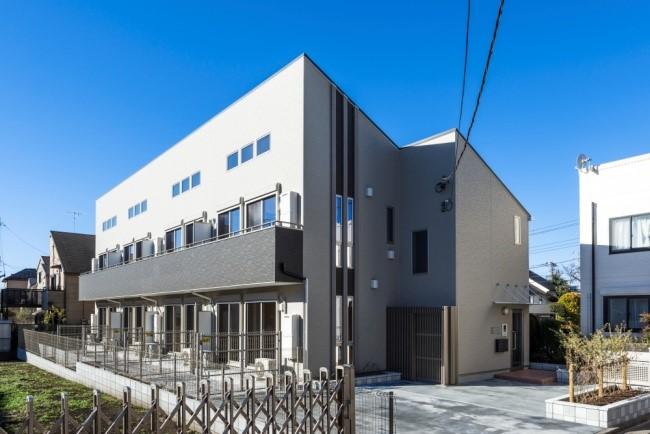 相場より高め家賃でも満室のデザインアパート|賃貸住宅施工事例(井の頭)