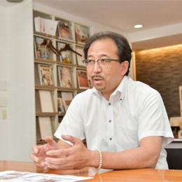 大工出身の専務取締役濱田をご紹介します