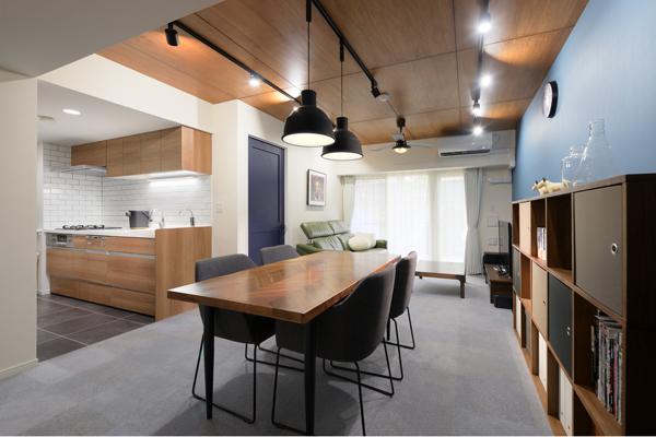リフォーム施工例|お気に入りの家具が映えるスタイリッシュなマンションリフォーム